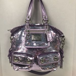 SOLD!! Coach Poppy Spotlight Sequins Lilac - SOLD!